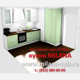 2 - Проект кухни #2 #кухня в современной класике # кухня небольшая белая #нео-классика #классические кухни оливкового цвета