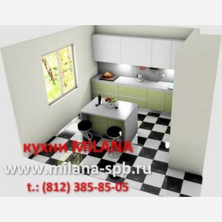 5- Проект кухни #5 #кухни современные # кухня оливковая с белым #кухня с островом #кухня с пеналами под встройку